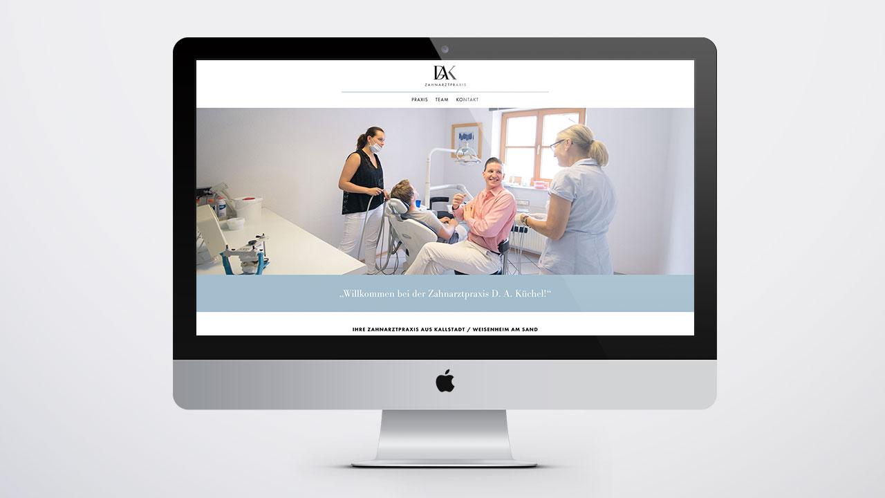 website und logo f r zahnarzt dak fips foxy gbr. Black Bedroom Furniture Sets. Home Design Ideas